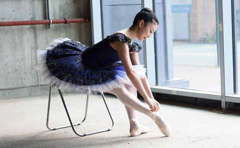 Ballet school dancer representing funding for performing arts organisations